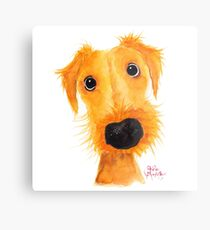 Nosey Dog Terrier ' JACKSONVILLE MUTTLEY ' by Shirley MacArthur Metal Print
