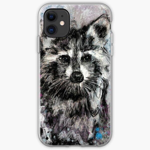 Expressive Raccoon iPhone Soft Case