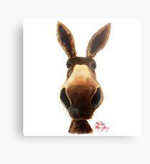 Happy Donkey ' TEDDY ' by Shirley MacArthur Metal Print