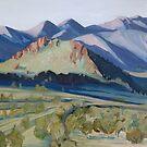McDonnell Ranges at Dusk by Lyn Fabian