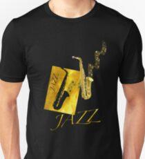 Jazz Sax Saxophone Gold  T-Shirt