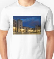Bright Midnight - Plaza de la Villa in Madrid Spain T-Shirt