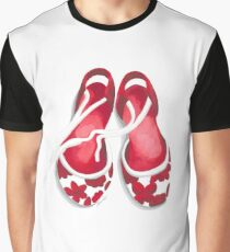 Ballet shoes in flowery red. Graphic T-Shirt
