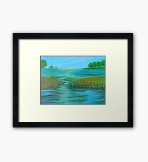 Flowing with Peace Framed Print