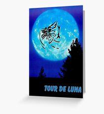 TOUR DE LUNA : Fantasy Bicycle Racing Print Greeting Card