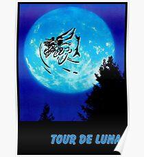 TOUR DE LUNA : Fantasy Bicycle Racing Print Poster