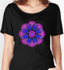 Purple Mandala flower Women's Relaxed Fit T-Shirt