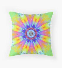 Summer mood, fractal abstract design Throw Pillow