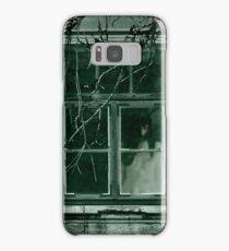 Woman in white dress behind the old window Samsung Galaxy Case/Skin