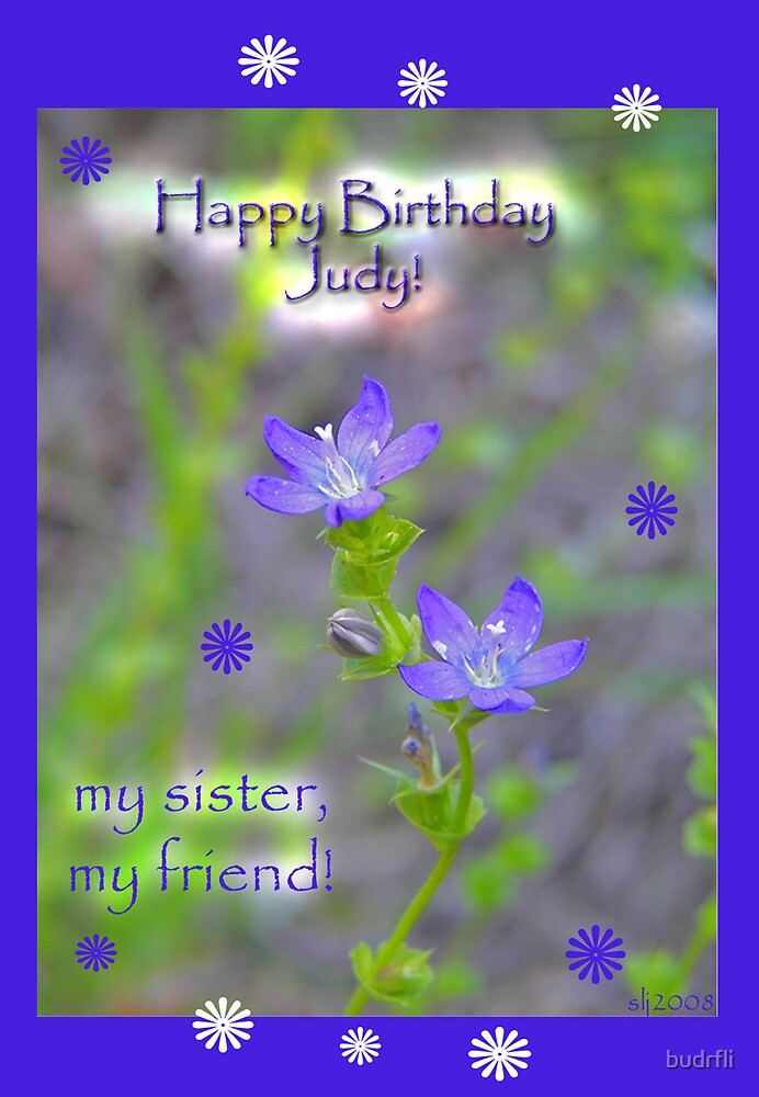 Happy Birthday Judy by budrfli