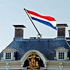 Dutch flag on the town hall of Harlingen by Arie Koene