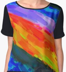 Modern Abstract Color Combination No 8 Women's Chiffon Top