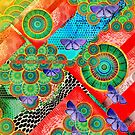 Abstract colorful mandala experiment by fruity-shapes
