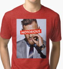 Conor McGregor NOTORIOUS Tri-blend T-Shirt