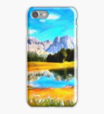Monte Stevia Dolomites Mountains Alpine Italy iPhone Case/Skin