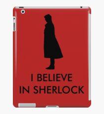 I Believe in Sherlock - Red iPad Case/Skin