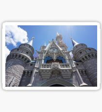 Magic Kingdom Castle Mid-day Low Shot Photograph Sticker