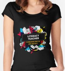 LITERACY TEACHER Women's Fitted Scoop T-Shirt