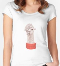 Llama Hipster Women's Fitted Scoop T-Shirt