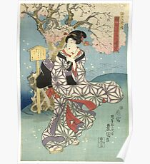 Stormy Day by the Sumida River Poster