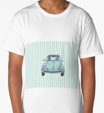 Blue Beetle art striped background Long T-Shirt