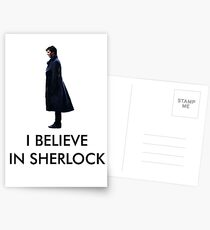I Believe in Sherlock - White Postcards