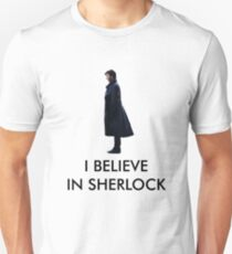 I Believe in Sherlock - White Unisex T-Shirt
