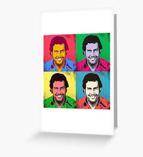 Escobar popart Greeting Card