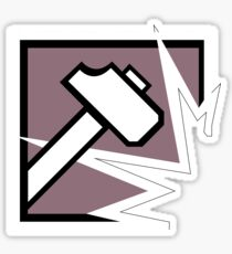 R6 Sledge Icon Sticker