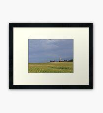 """Windmills and Wheat Fields"" Framed Print"
