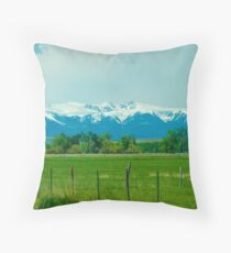 Beartooth Mountains Throw Pillow