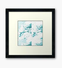 Blue Marble and Pattern Framed Print