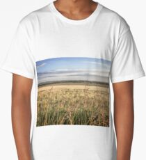 """""""Wheat Field by the Sea"""" Long T-Shirt"""