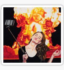 Fire Selfie Sticker