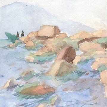 Big stones on the Baikal's shore by NadinS
