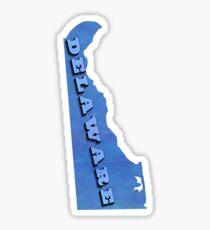 Delaware - Blue Watercolor Sticker