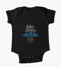 Lord of the Drinks Typography Kids Clothes