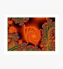Blooming in a cave Art Print
