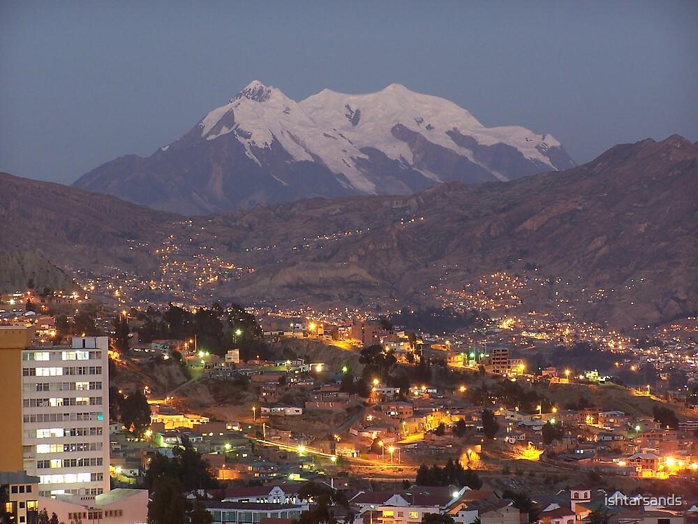 Night time La Paz, Bolivia by ishtarsands