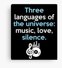 THREE LANGUAGES OF THE UNIVERSE Canvas Print
