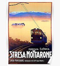 Stresa - Mottarone cable car,Italy,travel poster Poster