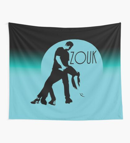ZOUK - blue moon Wall Tapestry