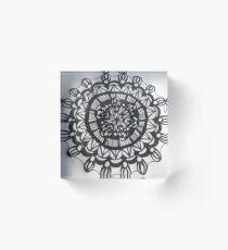 Macro Mandala  Acrylic Block