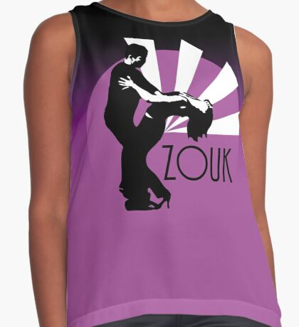 Time to zouk - pink Contrast Tank