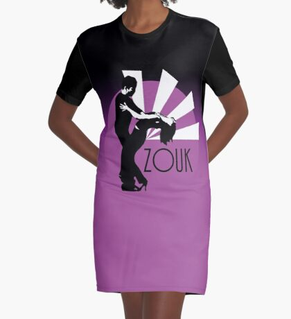 Time to zouk - pink Graphic T-Shirt Dress