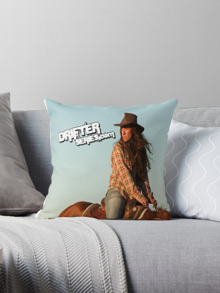 Official DrifterSeries.com Character Throw Pillow by Wastelander01