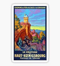 Haut-Koenigsbourg castle, Alsace, France, poster Sticker