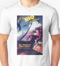 Rio, Brazil, airline, vintage travel poster T-Shirt