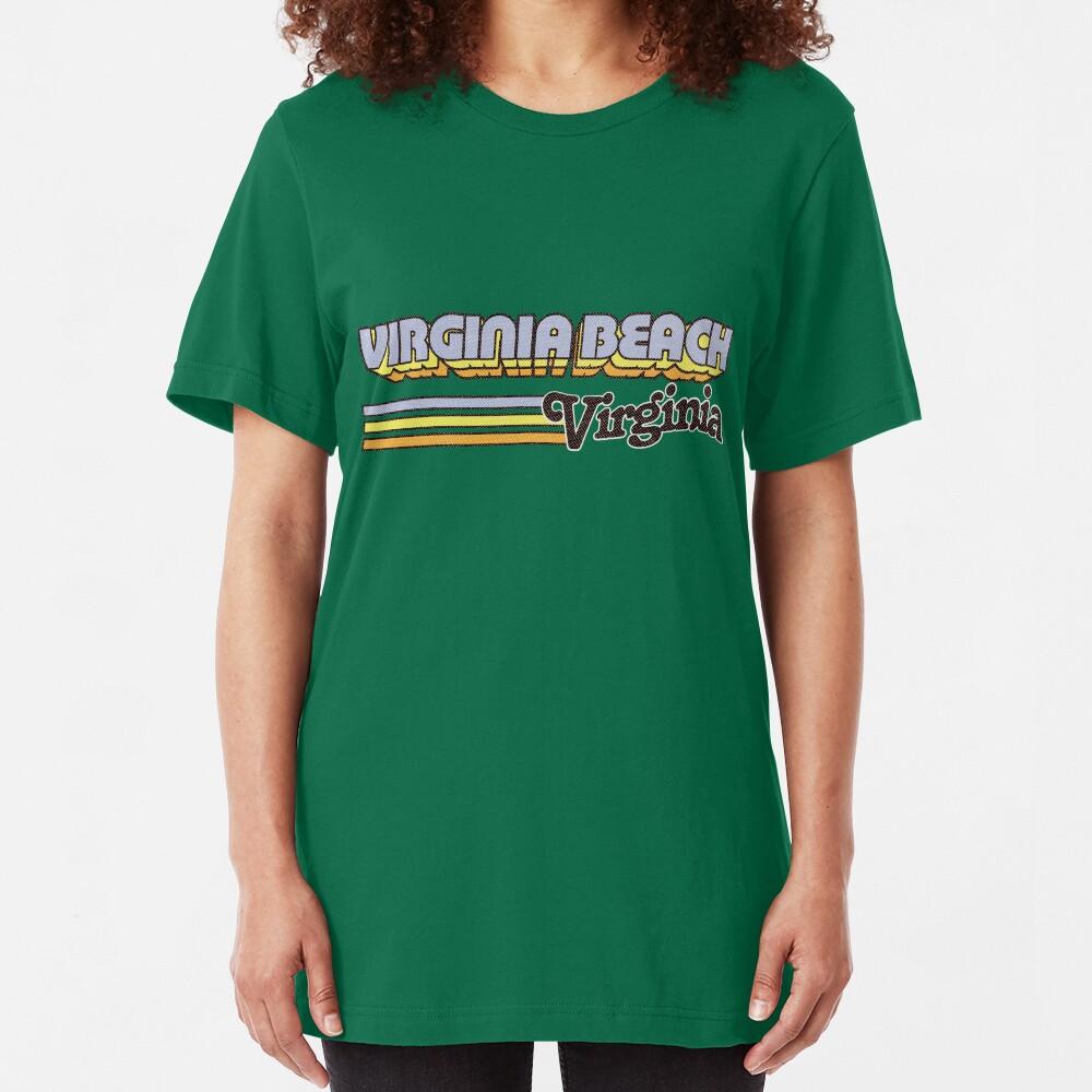 Virginia Beach, VA | City Stripes Slim Fit T-Shirt