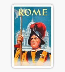 Rome, Guard, vintage travel poster Sticker